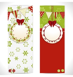 Christmas banner background labels vector image