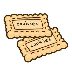 Cookies icon hand drawn style vector
