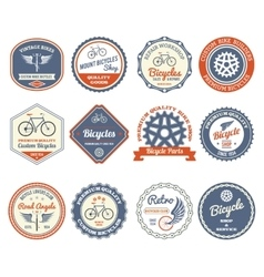Cycling Emblems Set vector