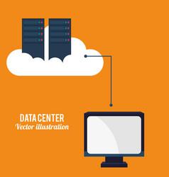 data center cloud computing technology vector image