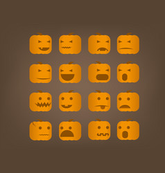 different emotional expression halloween vector image