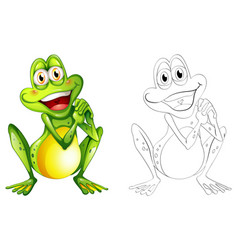 Doodle animal for little frog vector