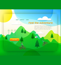 eco friendly city tourism landing page template vector image