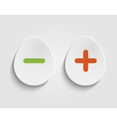 Egg buttons vector image