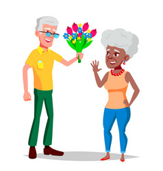 Elderly couple grandfather and grandmother vector