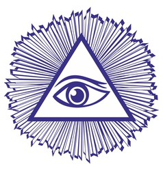 Eye Of Providence or All Seeing Eye Of God - famou vector