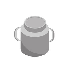 farm milk canister rural isometric icon vector image