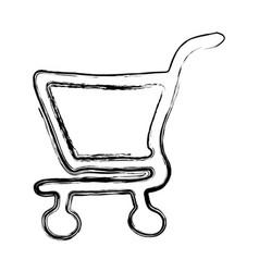 Figure shopping car icon vector