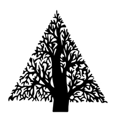 Figure tree vector