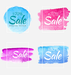 final sale watercolor paint abstract textured vector image