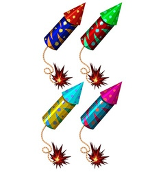 Firework in different colors vector