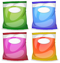 Four packs with empty labels vector image