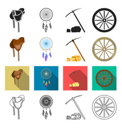 gold fever history and other web icon in vector image
