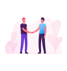 Good deal concept business partners men vector