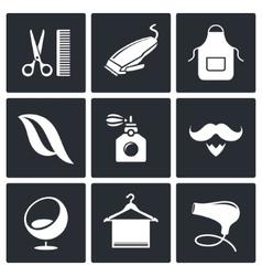 Hair salon icon collection vector
