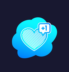Heart like with notification art vector