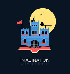 Imagination fantasy castle vector