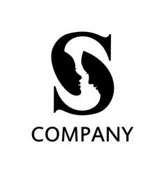 initial s logo zodiac concept vector image