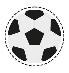 Isolated ball of soccer sport design vector