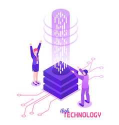 isometric high technology concept vector image