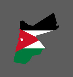 Jordan flag and map vector