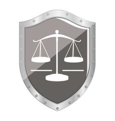 Justice balance law vector image