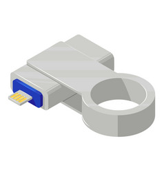 Key connector icon isometric style vector