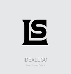 l and s initial logo ls initial monogram logotype vector image