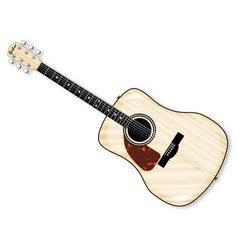 Left handed acoustic guitar vector