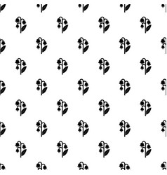 Lily valley pattern seamless vector