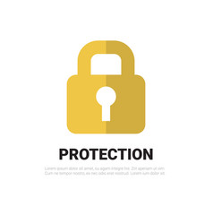 lock icon padlock protection and security concept vector image