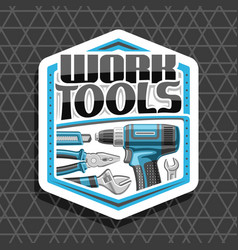 Logo for work tools vector