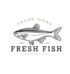 logos on a fishing theme fresh fish vector image