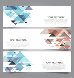 low poly banners vector image