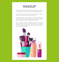 Makeup products of high quality vertical poster vector