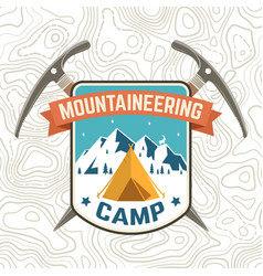 Mountaineering camp patch concept vector