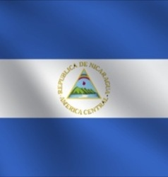 Nicaragua flag vector image