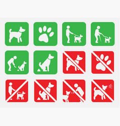 No dogs and dog allowed signs no fouling vector