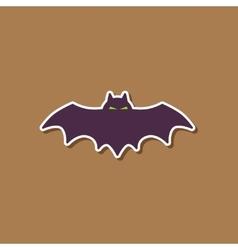 Paper sticker on stylish background halloween vector