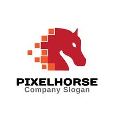 Pixel Horse Design vector image