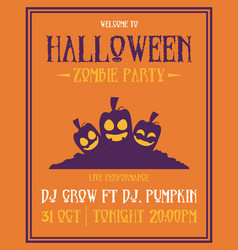 poster style halloween theme collection vector image