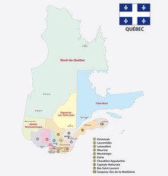 Province quebec administrative and political map w vector