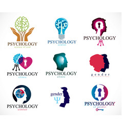 Psychology human brain psychoanalysis and vector