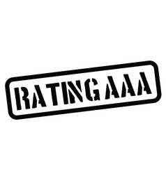 Rating aaa rubber stamp vector