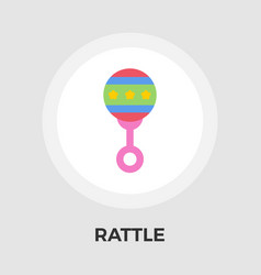 rattle flat icon vector image