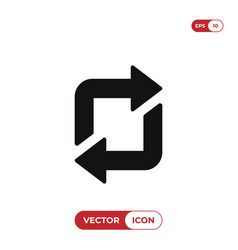 repeat icon vector image
