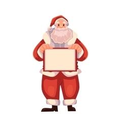 Santa Claus holding a blank board vector