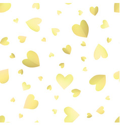 seamless pattern background with yellow hearts vector image