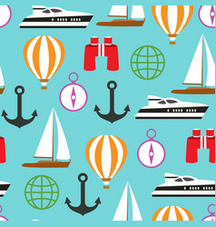 Seamless pattern of travelling on pleasure vector