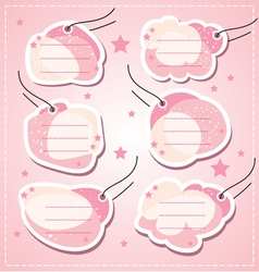set baby girl blank tags vector image